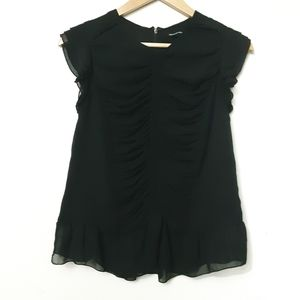 Who What Wear Ruched Top/Blouse